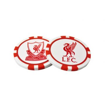 Liverpool FC Poker Chip Golf Ball Markers
